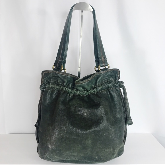 Lucky Brand Handbags - Lucky Brand  green leather purse hand bag